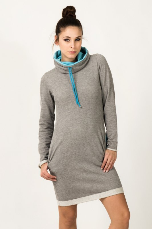 Sukienka model Kaja Light Gray/Blue
