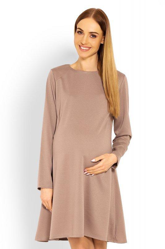 744dfa047e Sukienka Ciążowa Model 1359C Cappuccino - Sukienki dzienne PLUS SIZE ...