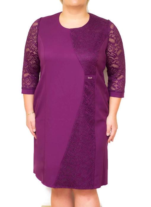 2d228f357f Elegancka sukienka MIRANDA 46-54 FIOLETOWA na wesele Duże rozmiary ...