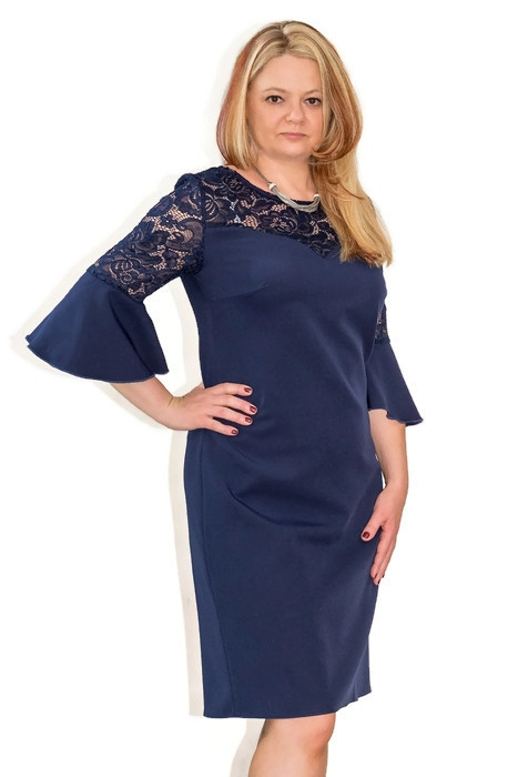 a5746cd74b Elegancka sukienka XXL 40-60 na wesele PAOLA duże rozmiary - XELKA ...