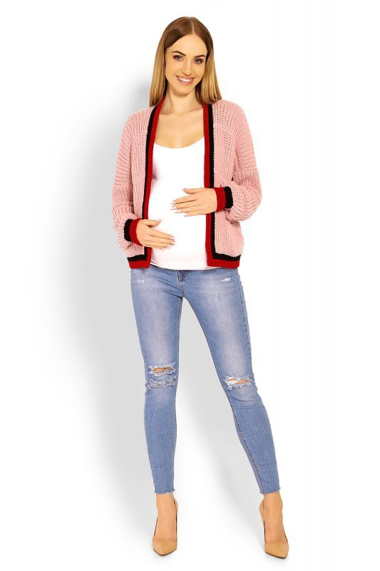 Sweter Ciążowy Model 60004C Dirty Pink