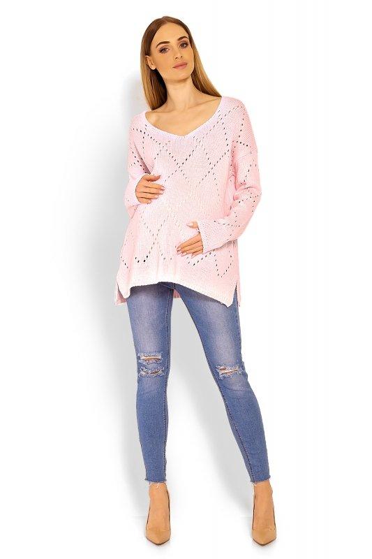 Sweter Ciążowy Model 30058C Pink