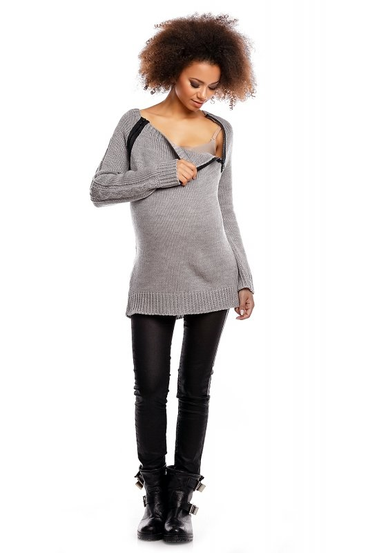 Sweter model 30050C Light Gray