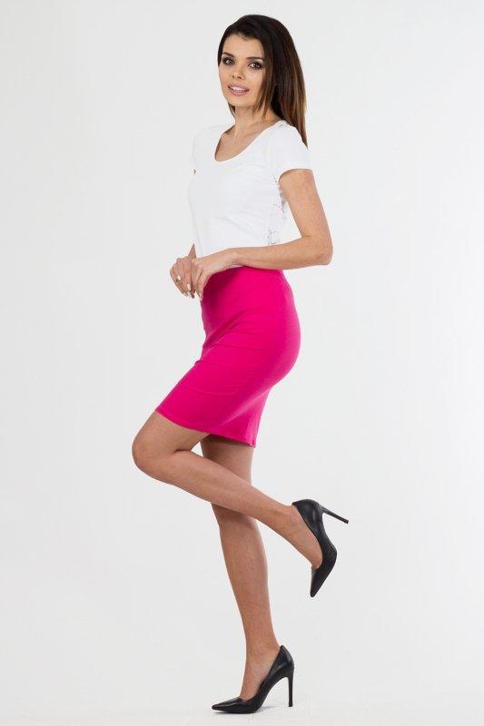 Spodnica-damska-36-46-z-dzianiny-S-010-FUKSJA-plus-size-do-pracy