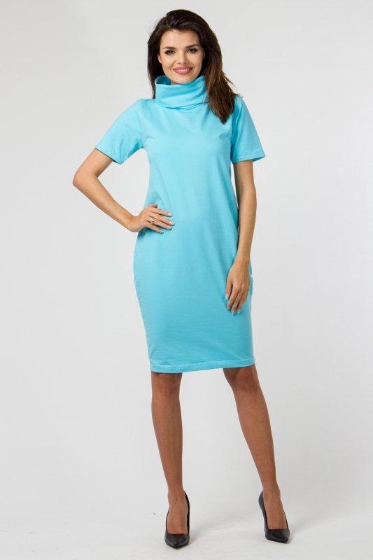 Sukienka dzianinowa K-041 Turquise
