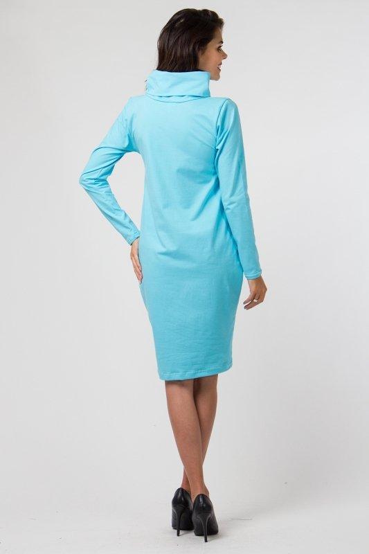 Sukienka dzianinowa K-040 Turquise