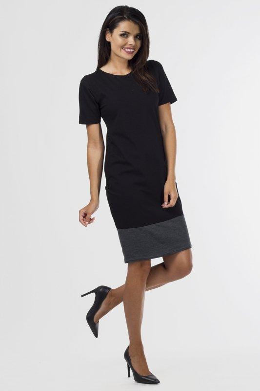 Sukienka dzianinowa B-033 Black/Graphit