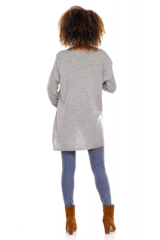 Sweter model 70007C Gray