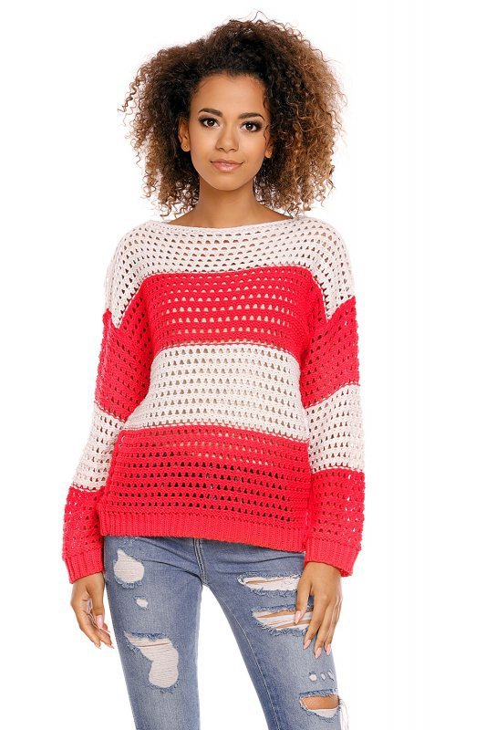 Sweter model 70002 Neon Coral