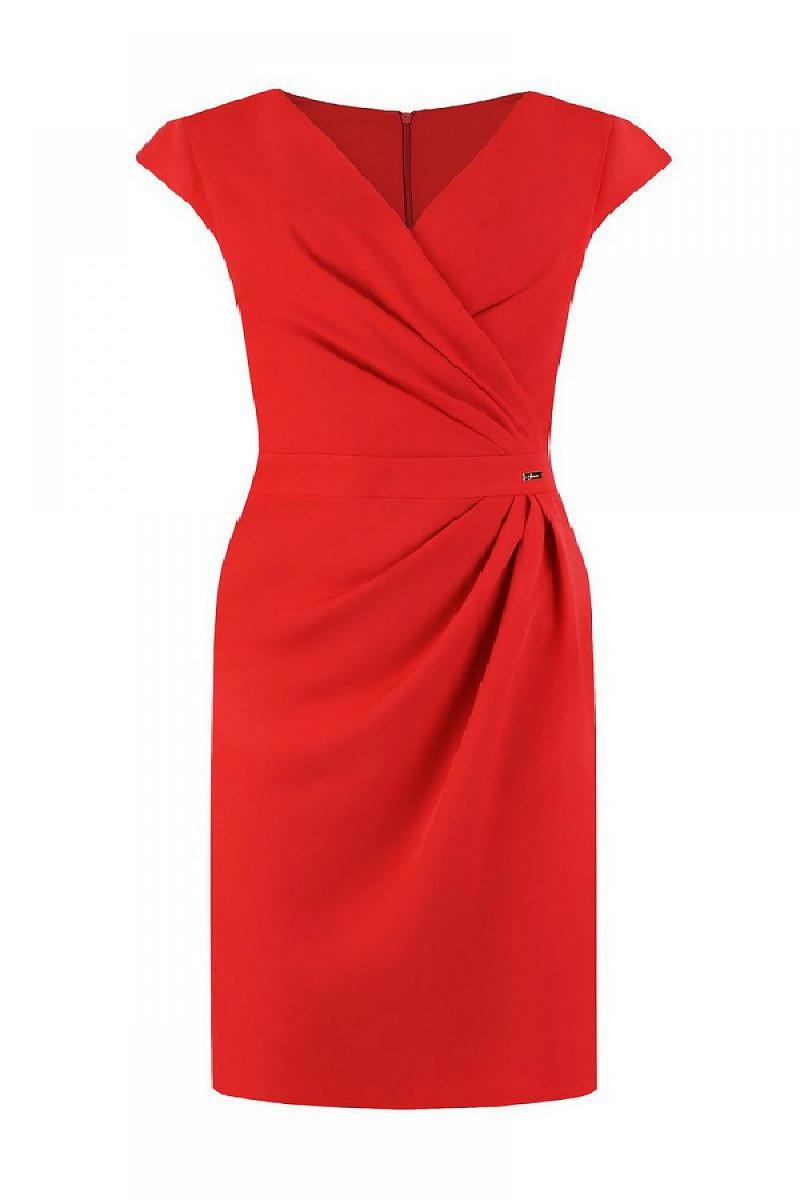 Elegancka-sukienka-plus-size-xl-xxl-r-44-czerwona-jersa-oktawia-wesele-poprawiny-chrzest-komunia