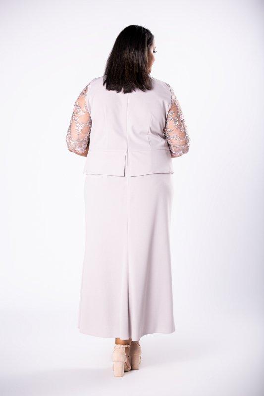 Sukienka maxi CRISTAL z baskinką