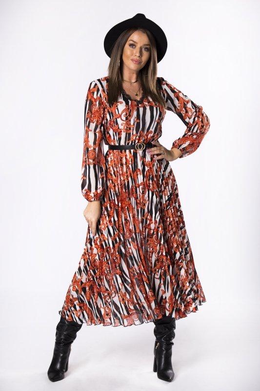 Plisowana sukienka WANDA