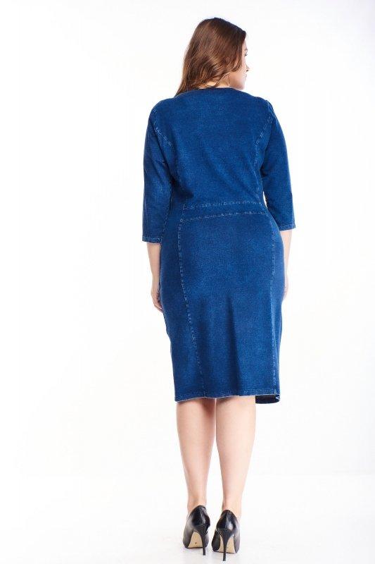 Jeansowa sukienka LIVI zamek
