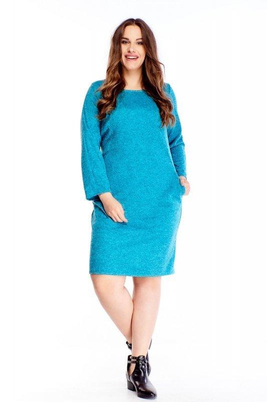 melanżowa sukienka z kieszeniami