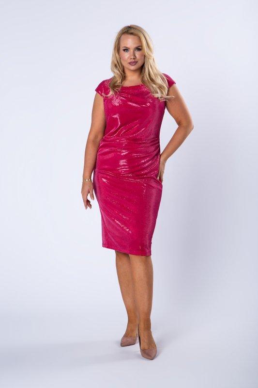 Sukienka ołówkowa SERENA z krótkim rękawem