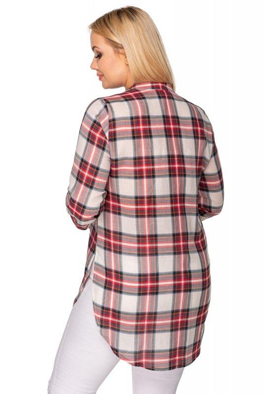 Koszula-damska-plus-size-xl-xxl-dla-puszystych-NOVA-w-kratke-z-guzikami-na-dekolcie-tyl