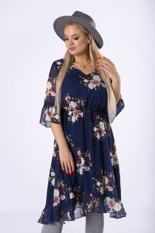 Sukienka tiulowa w kwiaty MARA