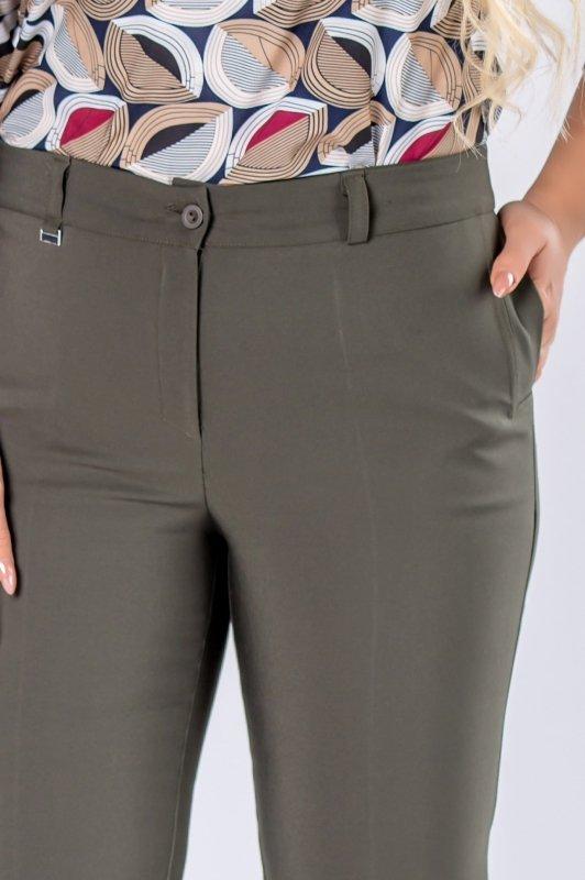 eleganckie spodnie z nogawkami w kant