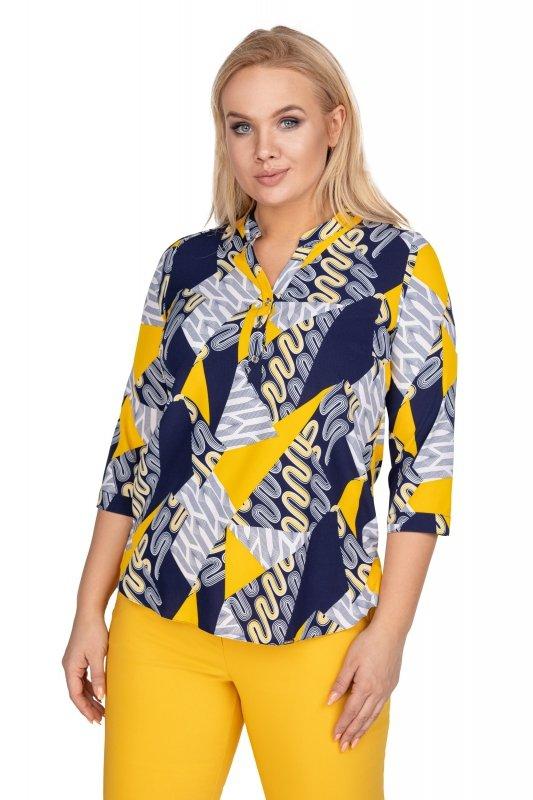 Bluzka-plus-size-dla-puszystych-xl-xxl-AGATA-o-koszulowym-kroju-z-dekoltem-w-serek