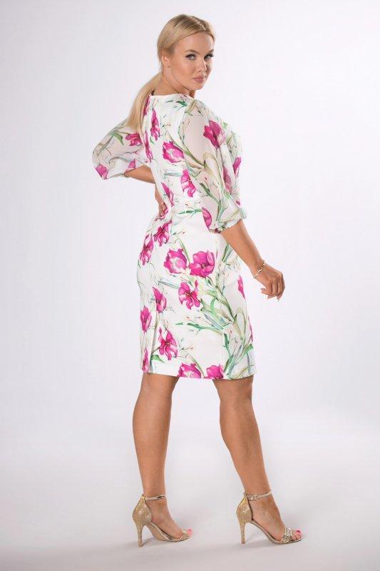 Sukienka MILA z szyfonowymi rękawami