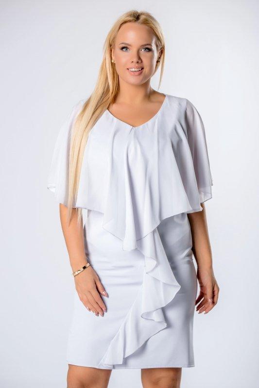 Sukienka KASANDRA z tiulową narzutką