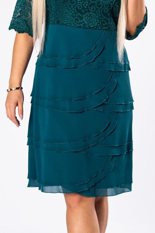 Sukienka MODUS z falbankami