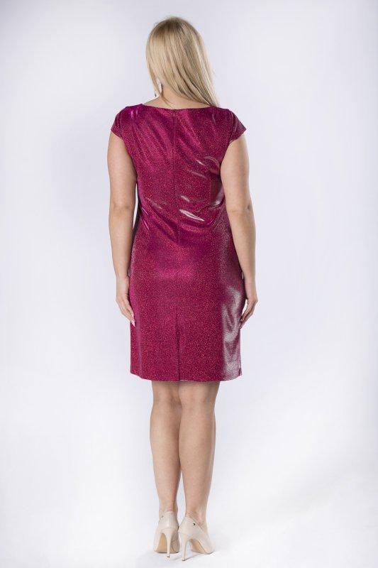 Sukienka brokatowa LIV z klamerką w pasie