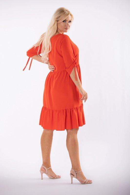 Sukienka trapezowa NOVA z falbankami