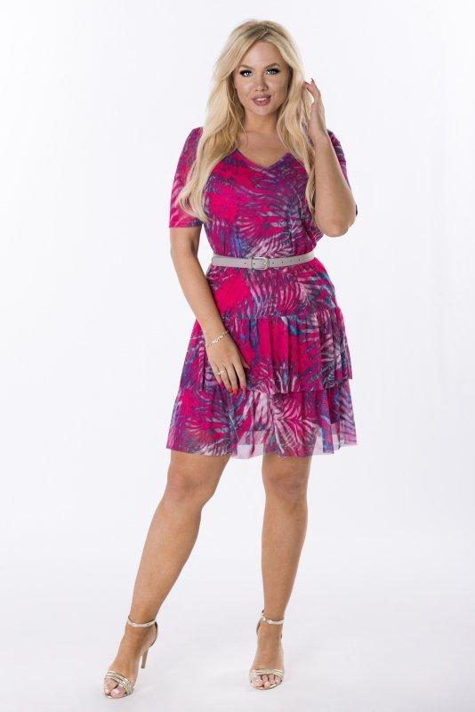 Trapezowa-sukienka-plus-size-WERONA-zwiewna-rozowa-przod