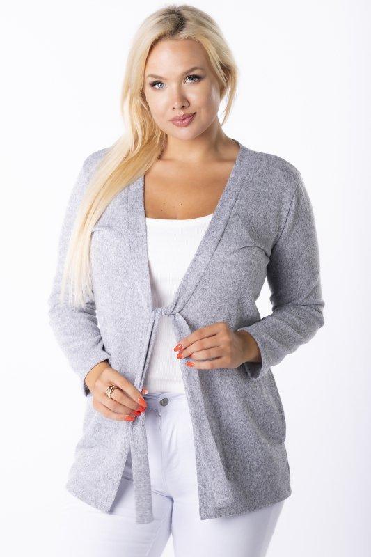 Sweter narzutka KINIA z wiązaniem
