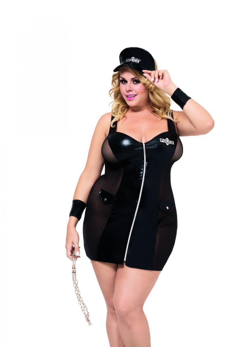 Komplet erotyczny POLICE XL-3XL Plus Size black