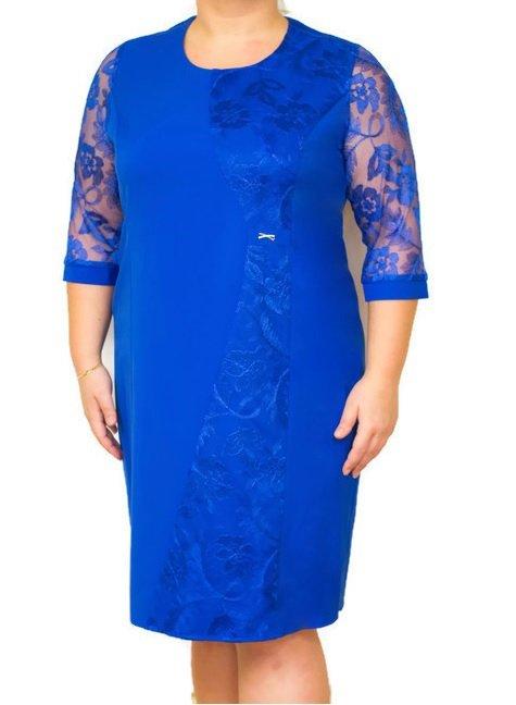 1477d82908 Elegancka sukienka MIRANDA 46-54 BORDO na wesele Duże rozmiary ...