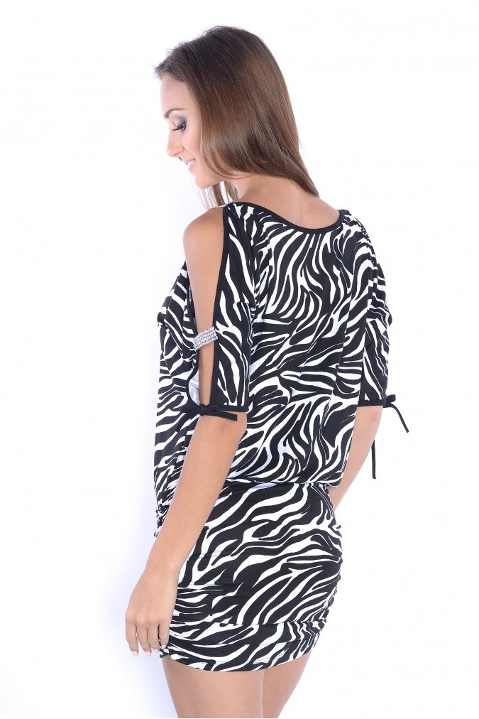 Tunika-damska-xl-PLUS-SIZE-PARTY-zwierzecy-wzor-zebra-tyl