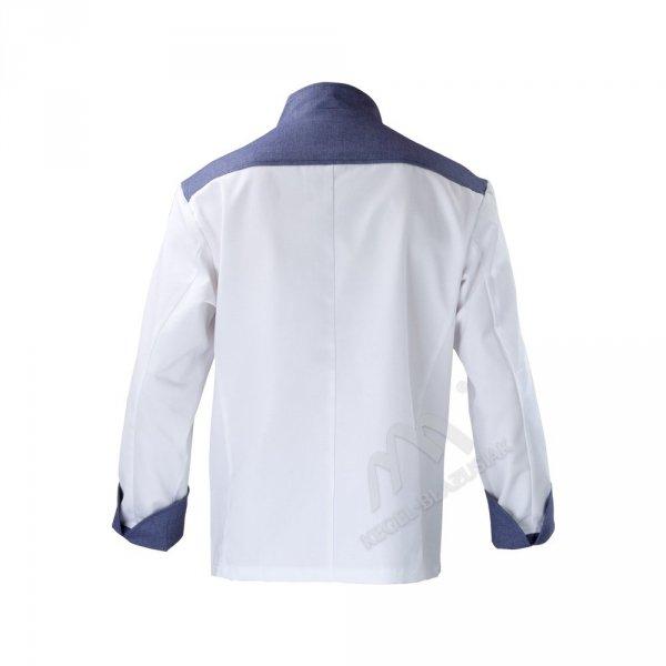 Bluza kucharska biało - niebieska