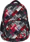Plecak szkolny młodzieżowy ST.RIGHT czarny w kolorowe napisy, ST.GRUNGE BP23 (18918)