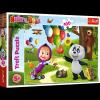 TREFL Puzzle 100 el. Masza i niedźwiedź, Masza i przyjaciele (16370)