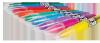 Pastele kredowe do włosów metaliczne 10 kolorów COLORINO (68635PTR)