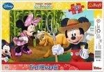 TREFL Puzzle Ramkowe 15 el. Myszka Mickey, Na wsi (31131)