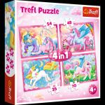 TREFL Puzzle 4 w 1 Magiczny świat jednorożców (34321)