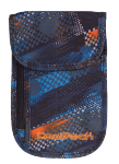 Portfel saszetka na szyję CoolPack TOURIST w niebiesko - pomarańczowe wzory, TIRE TRACKS 758 (73448)