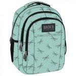 Plecak szkolny młodzieżowy Back UP niebieska w ważki, DRAGONFLY (PLB1H23)