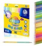 Kredki trójkątne dwukolorowe, pastelowe 48 kolorów ASTRA (312120005)