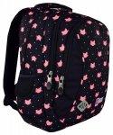 Plecak wczesnoszkolny ST.RIGHT czarny w różowe kotki, MEOW BP26 (17294)