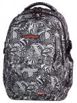 Plecak szkolny młodzieżowy COOLPACK FACTOR czarno białe wzory do kolorowania, BLACK LACE 999 (71727)