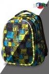 Plecak CoolPack LED JOY L w niebiesko żółtą kratę SQUARES (97161)