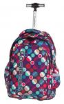 Plecak szkolny młodzieżowy na kółkach COOLPACK JUNIOR w kolorowe kropki, MOSAIC DOTS 721 (72557)