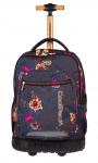 Plecak CoolPack SWIFT  na kółkach szary w kolorowe kwiaty GREY DENIM FLOWERS 1070 (80132)