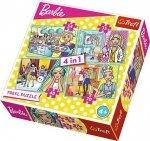 TREFL Puzzle 4 w 1 Kariera Barbie (34301)