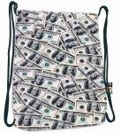 Plecak Worek na sznurkach czarny w dolary, DOLLARS ST.RIGHT SO11 (19908)