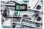 Portfel ST.RIGHT czarny w dolary, DOLLARS NW-02 (17263)